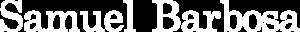 Samuel Barbosa logo - white